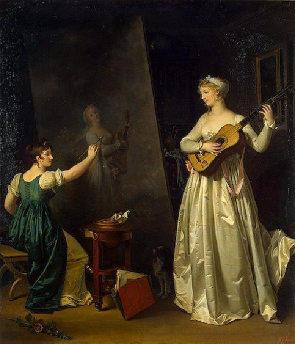Художница, пишущая портрет музыкантши. (1803). Автор: Маргарита Жерар.
