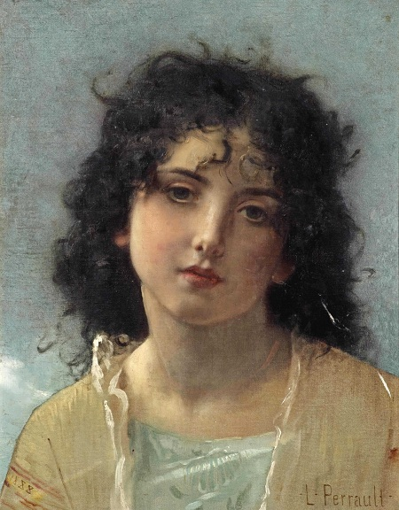Маленькая красавица (The little beauty). (1888). Автор: Leon Bazile Perrault.